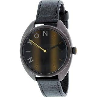Nixon Women's Wit Black Leather Quartz Watch
