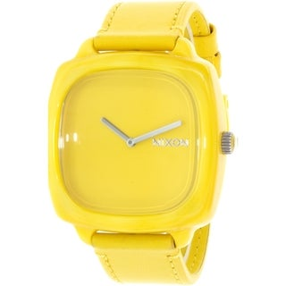 Nixon Women's Shutter A167640 Yellow Leather Quartz Watch