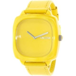 Nixon Women's Shutter A167640 Yellow Leather Quartz Watch