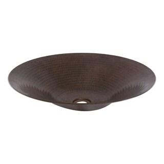 Unikwities Oil-rubbed-bronze-finished 14-gauge Copper 18 x 3.5-inch Minimum Weight 5 lbs. 12 oz. Round Vessel Sink