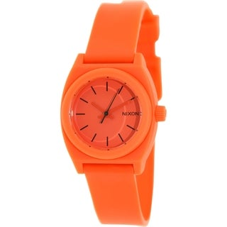 Nixon Women's Time Teller A425383 Red Resin Quartz Watch