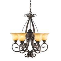 Golden Lighting's #7116-6 LC Mayfair 6-light Chandelier