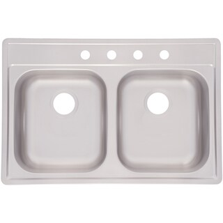 """Fhp FDS804NB 33"""" X 22"""" X 8"""" Stainless Steel Double Sink"""