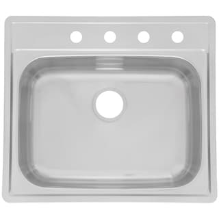 "Fhp SSK854NB 25"" X 22"" X 8"" Stainless Steel Single Sink"