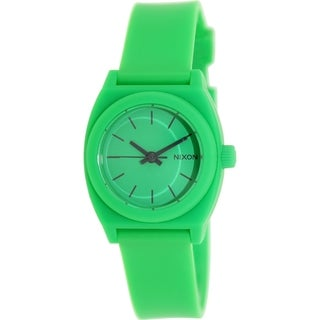 Nixon Time Teller A425330 Green Rubber Quartz Women's Watch