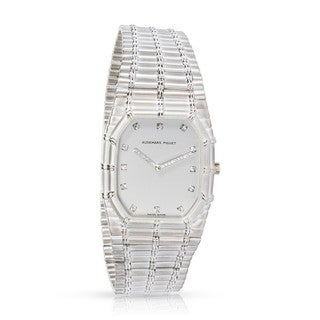 Pre-Owned Audemars Piguet Bamboo 14375.614 Unisex Watch in 18K White Gold
