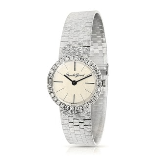 Pre-Owned Bueche Girod WG6704 18K Manual Watch in White Gold & Diamond