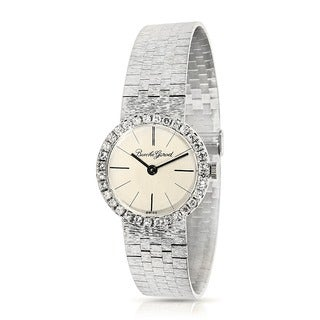 Pre-Owned Bueche Girod WG6704 18K Manual Watch in White Gold & Diamond