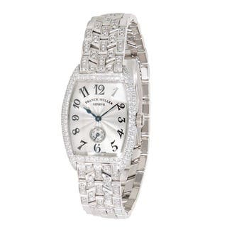 Pre-Owned Franck Muller Curvex 1750 S6 PM D Ladies Watch in 18K White Gold|https://ak1.ostkcdn.com/images/products/12777223/P19550948.jpg?impolicy=medium