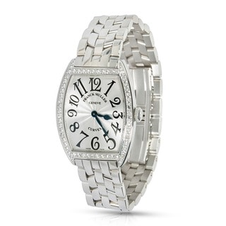 Pre-Owned & Unworn Franck Muller Curvex 7502 QZDP watch in Stainless Steel and Diamonds