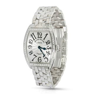 Pre-Owned & Unworn Franck Muller Curvex 7502 QZDP watch in Stainless Steel and Diamonds|https://ak1.ostkcdn.com/images/products/12777231/P19550949.jpg?impolicy=medium