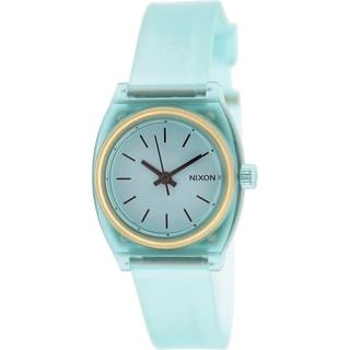 Nixon Women's Time Teller A4251785 Aqua Plastic Quartz Watch