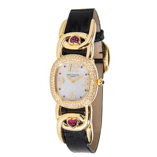 Pre-Owned Patek Philippe Ellipse Mother-of-Pearl 4834/12 Ladies Watch in 18K Yellow Gold