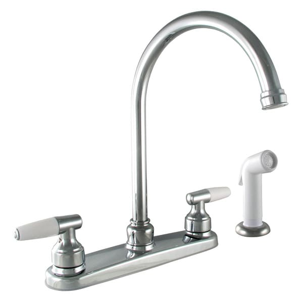 Shop Moen Ca87888 Chrome Caldwell Two Handle High Arc Kitchen Faucet