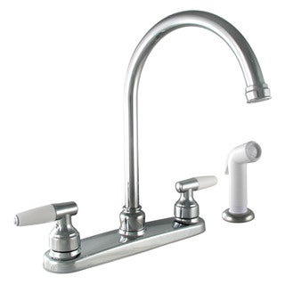 Moen CA87888 Chrome Caldwell Two Handle High Arc Kitchen Faucet