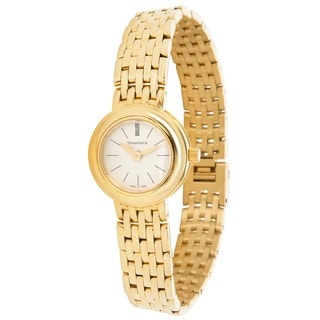 Pre-Owned Ladies Tiffany & Co. Portfolio 18K Yellow Gold Quartz Dress Watch