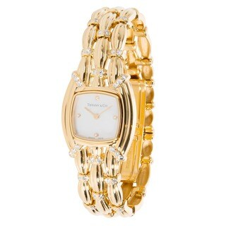 Pre-Owned Tiffany & Co. Mother-of-Pearl Ladies Watch in 18K Yellow Gold