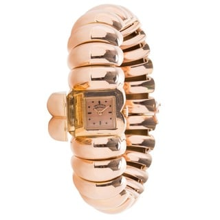 Pre-Owned Ladies Vintage 1940s Vacheron Constantin 18K Rose Gold Manual Bangle Watch
