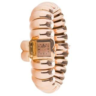 Pre-Owned Ladies Vintage 1940s Vacheron Constantin 18K Rose Gold Manual Bangle Watch|https://ak1.ostkcdn.com/images/products/12777275/P19550966.jpg?impolicy=medium
