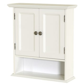 "Zenna Home 9918WWA 21.625"" W X 24"" H X 7"" D White Collette Wall Cabinet"