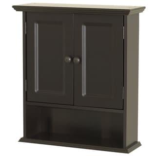 """Zenna Home 9918CHA 21.65"""" W X 24"""" H X 7"""" D Espresso Collette Wall Cabinet"""