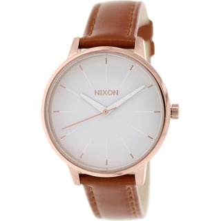 Nixon Women's Kensington Brown Leather/Stainless Steel Quartz Watch