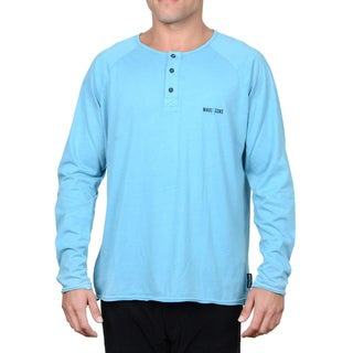 Maui & Sons Men's Rick Cotton Long-sleeve Henley Shirt