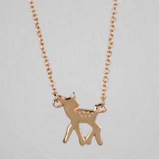 LilahV Gold or Silver Adorable Fawn Charm Necklace