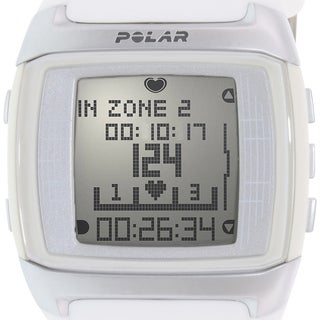 Polar Women's Heart Rate Monitor White Silicone Quartz Watch