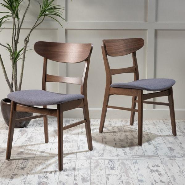 Idalia Mid Century Fabric Dining Chair Set Of 2 By