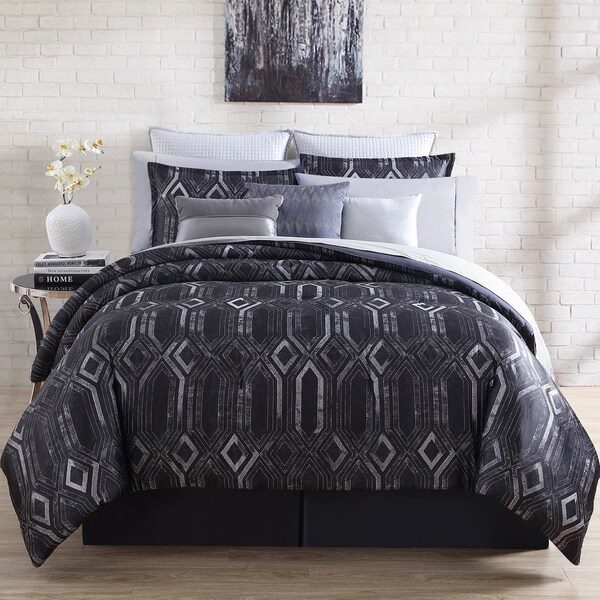 Nikkichu: Shop Nikki Chu Midnight 4-piece Comforter Set