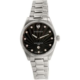 Swiss Eagle Women's SE-6048-11 Silver Stainless-Steel Swiss Quartz Watch