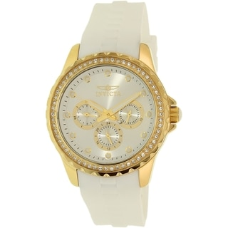 Invicta Women's Angel 21900 White Rubber Quartz Watch