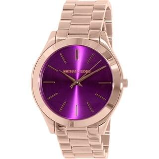 Michael Kors Women's MK3293 'Slim Runway' Rose-Tone Stainless Steel Watch