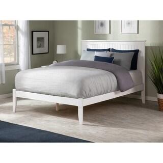 Nantucket White Wood Queen-sized Open-foot Bed
