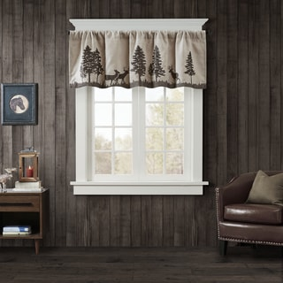 Woolrich Tree Faux Suede Window Valance
