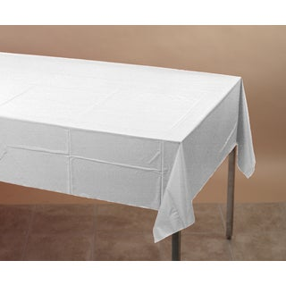 Creative Converting 710241 White Tablecover