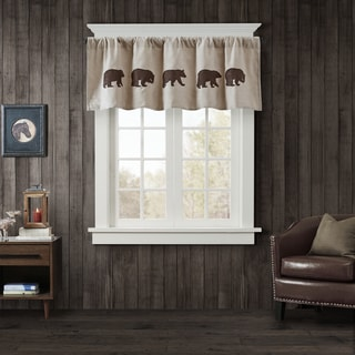 Woolrich Bear Faux Suede Window Valance 3-Color Option