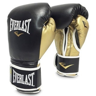 Everlast Men's Powerlock Multicolored Faux Leather 14-ounce Hook and Loop Gloves Pair