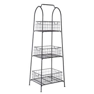 Wire Basket Natural Display Shelf