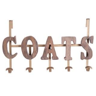 Coats' Beige Wood Vintage-style Coat Hook