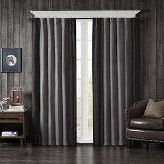 Woolrich Watson Faux Suede Window Curtain 2-Color Option