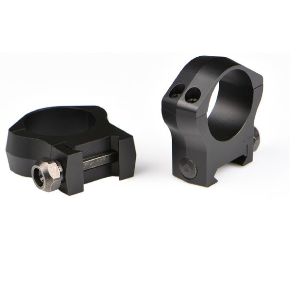 Warne Scope Mountain Tech Black Aluminum 34-millimeter Medium Scope Mounting Rings