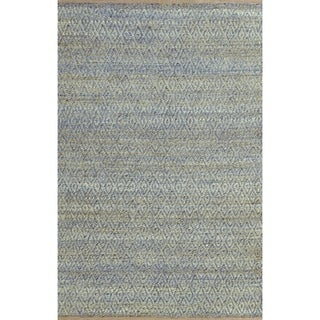 Superior Natural Fiber Hand Woven Diamond Jute Rug (5'x8')