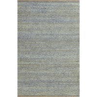 Superior Natural Fiber Hand Woven Diamond Jute Rug (5'x8') - 5' x 8'