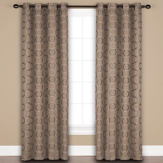 Saturday Knight 'Halo' Sand/Beige/Brown Polyester Window Curtain Panel