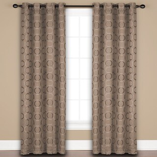 Saturday Knight 'Halo' Sand/Beige/Brown Window Curtain Panel - 52 x 84