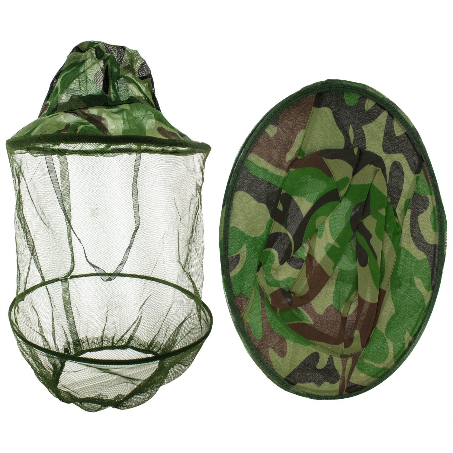 Mosquito Net Head Hat (Camouflage), Multi, Size One Size ...