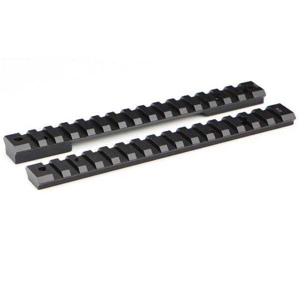 Warne Mountain Tech Black Aluminum 20-MOA Short Rail for Howa/Vanguard Short Action XP
