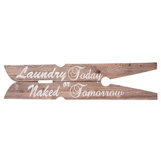 Laundry Today' Wooden Wall Art